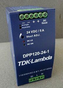 Hutschienen Netzteil TDK Lambda DPP120-24-1 Netzgerät DIN-Rail 24V DC 5A 120W