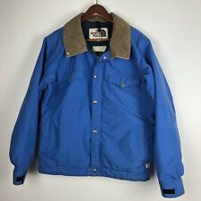 The North Face Jacket Large Blue Vintage Brown Label Gore Tex Full Zip Coat USA