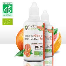 EPP Extrait de Pépins de Pamplemousse BIO  - 2X 100 ml - 800 mg