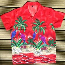 NUOVO Medium M camicia hawaiana VACANZA BRILLANTE spiaggia estiva Loud PARTY
