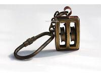 Marine Nautical Pulley Key Chain, Solid Brass, Nautical & Marine Gift