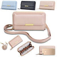 Women Crossbody Leather Shoulder Bag Mini Tote Purse Handbag Strap Phone Wallet