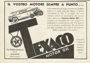 W0816 Texaco Motor Oil - Advertising 1933