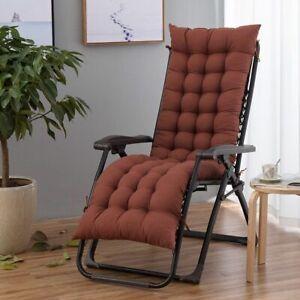 Recliner Chair Cushion Sun Loungers Pad Indoor Outdoor Patio Veranda Lawn Yard