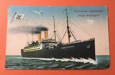 zt041 Norddeutscher Lloyddampfer George Washington ship 1921 Germany
