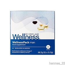 BY ORIFLAME WELLNESS PACK MAN MULTIVITAMIN & MINERAL OMEGA 3 NEW 21SACHETS 29697