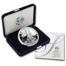 2005-W Silver Eagle Dollar Proof - $1 U.S. Mint 1 oz .999  with Box & COA