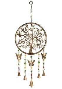 Wind Chime Tree of Life Mobile with beads and bells Fair Trade Home decor New