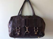 H&M real leather ladies brown snakeskin tote underarm handbag