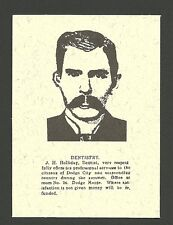 Doc Holliday Holiday scarce Outlaw Collector Card