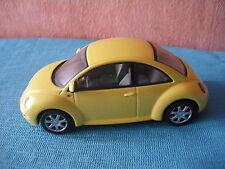 296 H SCHUCO VW VOLKSWAGEN NEW BEETLE COUPE CONCEPT 1 JAUNE 1/43 L 9,4 CM