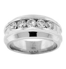1.55ct MENS ROUND DIAMOND RING 14k WHITE GOLD