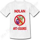 T-shirt Enfant Anti Légumes avec Prénom Personnalisé