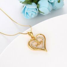 """Mom Gift 18k Yellow Gold Filled Women Pendant Necklace 18"""" Link"""