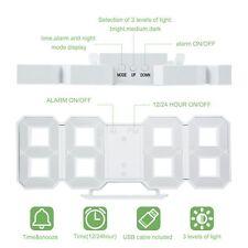 8 Shaped Large Modern Design Digital LED Display Wall Desktop Table Clocks Y6
