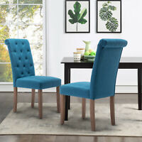 Dining Chair Set of 2 Armchair Armless Upholstered Living Room Bedroom Home