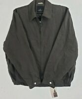 London Fog Men's Golf Zip-Front Jacket  Color Dark Brown  Size X-Large Tall