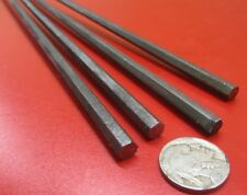 """1018 Carbon Steel Hex Rod 1/4"""" Hex  x 3 Foot Length, 4 Units"""