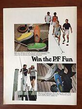 Vintage 1968 Original Print Ad Windjammers Sea Vees Deck Shoes ~P.F. Fun~
