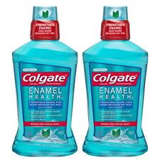 (2) Packs Colgate Enamel Health Mouthwash, Fresh Mint - 500mL, 16.9 fl oz