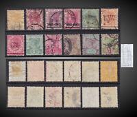 1882-1892 STRAITS SETTLEM. Q. VICTORIA MINT H-LH USED LOT SCT.49 53 73-77 83-87