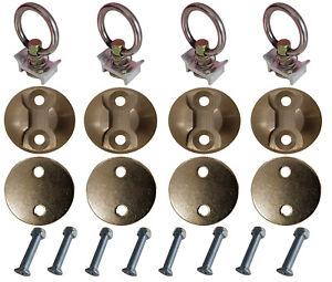 45mm Round L Track,Mini Track Tie Down Kit-4Packs