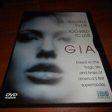 Gia (DVD, Full Frame 1998) Mercedes Ruehl, Faye Dunaway, Angelina Jolie Used