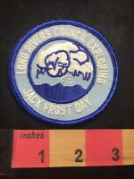 Vtg LONG RIVER COUNCIL EXPLORING JACK FROST DAY BSA Boy Scouts Patch CLOUDS 80XE