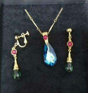 Howl's Moving Castle Ghibli Museum Limited Swarovski Necklace Earrings Jewelry