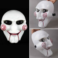 Saw Jigsaw Puppet Fancy Halloween Prop Horror Creppy Party Funny Cosplay Mask