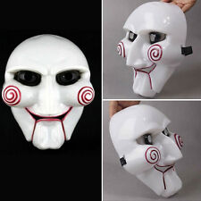 Saw Jigsaw Puppet Mask Halloween Horror Costume Fancy Dress Unisex Cosplay Props