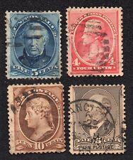 USA 4 timbres 1873-1888,Scott 139,179,205,215 / Lot 93