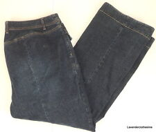 "Venzia Womens 20 Stretch Jeans Dark Blue No Back Pockets 42"" Waist 30"" Inseam"
