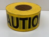 "(4-Pack) 1000ft Roll Grainger 4A416 Yellow Caution Tape Safety Barrier 3"" Width"