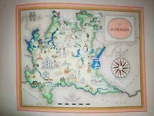'50 vecchia cartina LOMBARDIA MILANO CREMONA CANTU BERGAMO LEGNANO BRESCIA