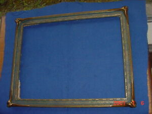 """OLD ANTIQUE BATWING PIECRUST ART NOUVEAU PICTURE FRAME HOLDS 13.5"""" by 10.5"""""""