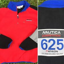 Vintage 90s Nautica Competition Fleece Size Xl Triathlon 625