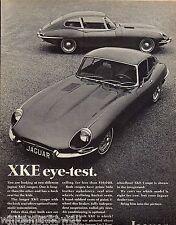 1968 JAGUAR XKE COUPE Vintage Sports Car Photo AD