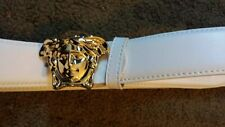 VERSACE leather belt gold buckle 28 - 36
