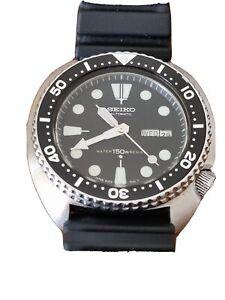 Seiko Diver Men's Black Watch - 6309-7040