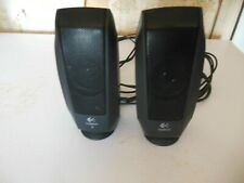computer sound system,Logitech, AC & phone jack connection, two speakers vol con