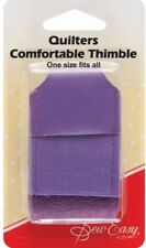 SEW EASY QUILTERS COMFORTABLE LEATHER THIMBLE in PURPLE SEWING. QUILTING ER223