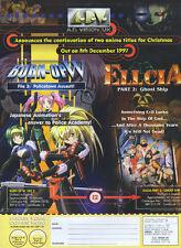 "Anime ""Burn-UoW"" ""Ellcia"" 1997 Magazine Advert #4277"