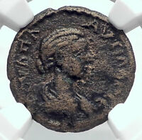 PLAUTILLA wife of CARACALLA Ancient Roman Coin of SILLYUM Pamphylia NGC i80647