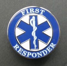 EMT EMS FIRST RESPONDER LAPEL PIN BADGE 1 INCH