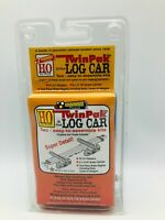 Roundhouse Products 03050 HO Scale 30 foot Log Car Kit - Twinpak - set of two