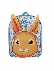 OFFICIAL PETER RABBIT 3D EARS CHILDRENS BLUE BACKPACK RUCKSACK SCHOOL BAG