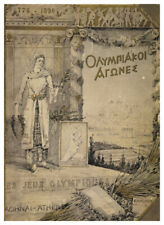 ATHENS 1896 First Summer Olympic Games Official Olympic Museum POSTER Print