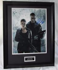 """Arnold Schwarzenegger & Emilia Clarke signed  """"Terminator Genisys""""  UACC001 COA"""