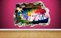 My Little Pony 3D Style smashed wall sticker kids childrens bedroom vinyl art